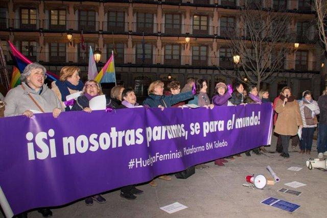 Manifestación feminista en Toledo