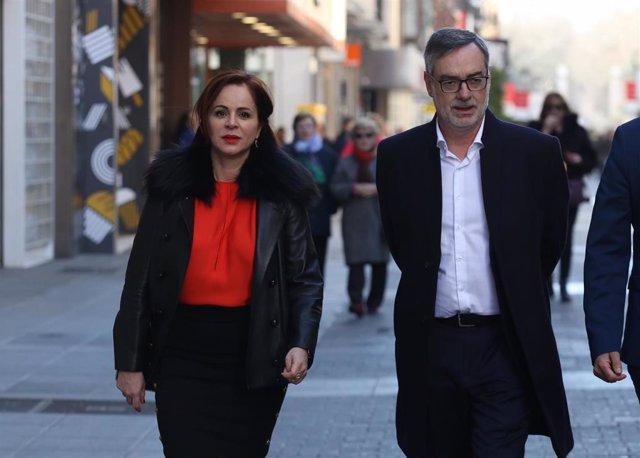 La expresidenta de las Cortes de Castilla y León, Silvia Clemente, presenta su c