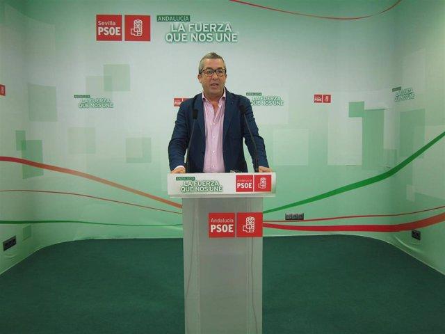 El secretario de organización del PSOE de Sevilla, José Muñoz