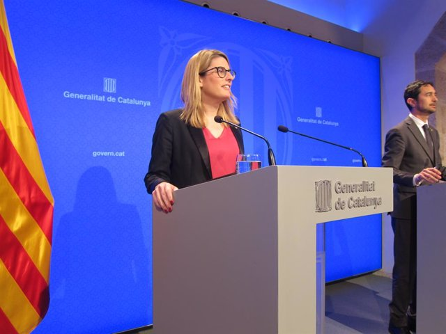 La portaveu del Govern Elsa Artadi i el conseller de Territori i Sostenibilitat