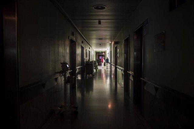 Enfermeras de planta del Hospital Universitario Vall d'Hebron en el turno de noc