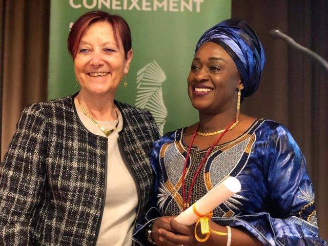 Caddy Adzuba dedica su doctorado Honoris Causa por la UAB a las víctimas de viol