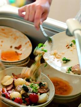 Despilfarro platos comida