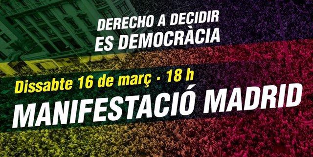Resultado de imagen para manifestación derecho a decidir madrid