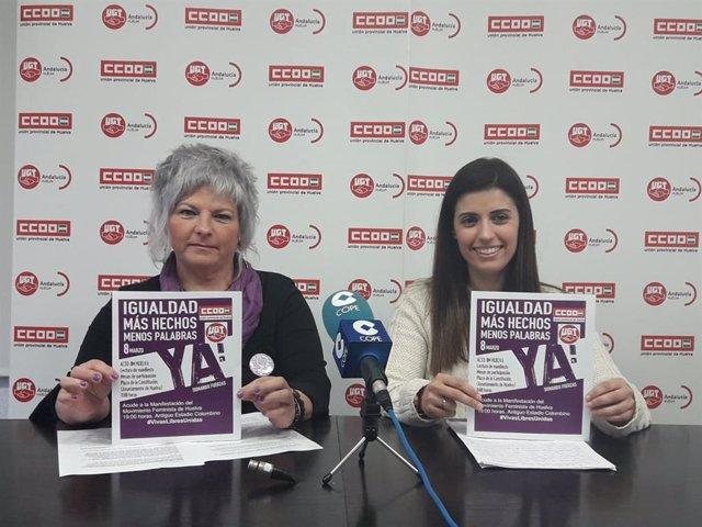 """Huelva.- 8M.- UGT y CCOO llaman a la huelga feminista porque """"a pesar del éxito"""