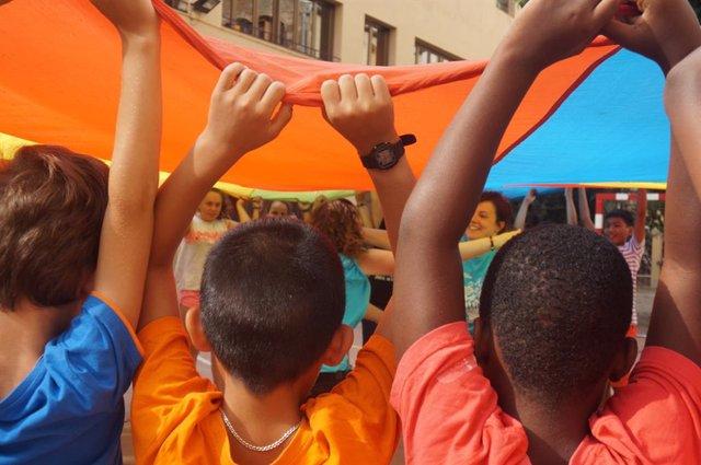 Niños en actividades de ocio escolar