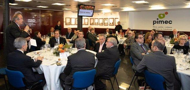 El cos consular de Barcelona es reuneix amb la junta directiva de Pimec