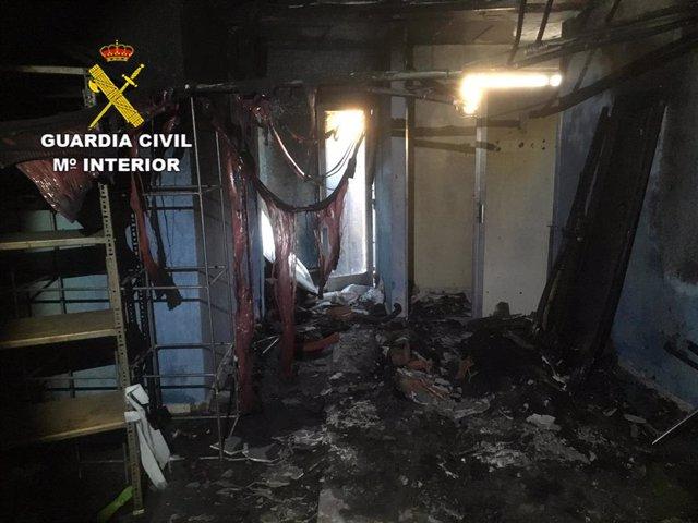 Sucesos.- Detenidos dos menores por quemar el club social en Valdeaveruelo (Guad