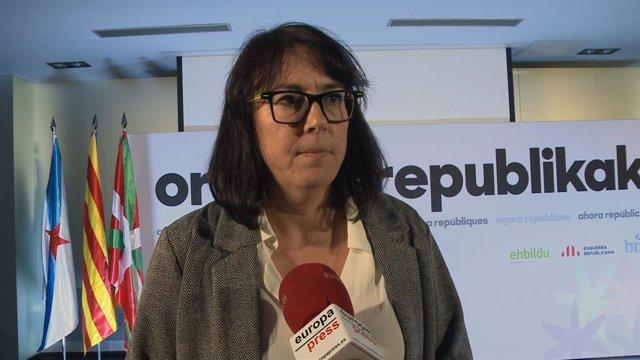 Diana Riba,  pareja del 'exconseller' encarcelado Raül Romeva