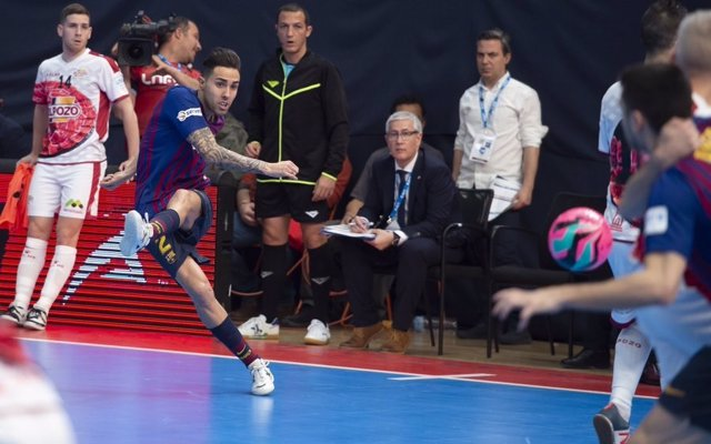 Fútbol sala.- Aicardo (Barça Lassa), cuatro semanas de baja por una rotura fibri