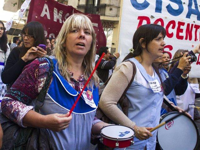 Huelga de profesores en Buenos Aires, Argentina