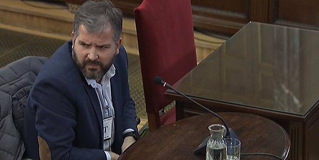El publicista Ferrán Burriel declara en el Supremo durante el juicio por el proc
