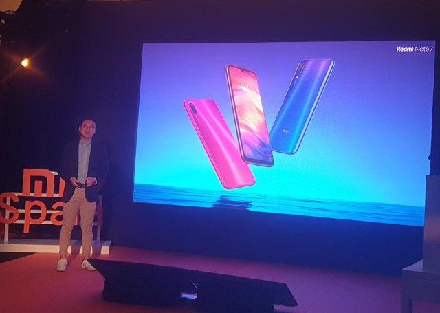 Xiaomi presenta en Espanya el seu Redmi Noti 7, que rebaixa la barrera dels 200