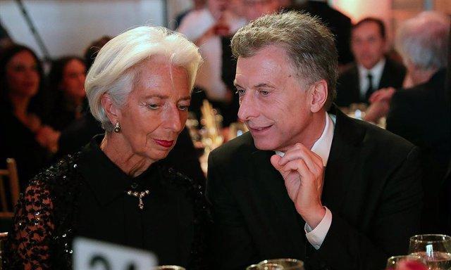 Christine Lagarde, presidenta del FMI, y Mauricio Macri, presidente de Argentina