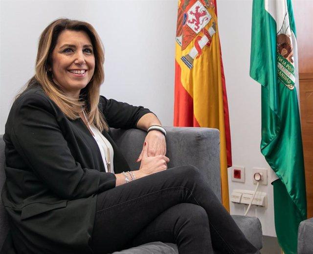 La secretaria general del PSOE-A, Susana Díaz, mantiene un encuentro con el emba
