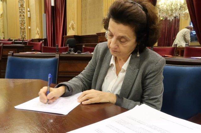 La candidata de MÉS per Mallorca al Parlament, Fina Santiago