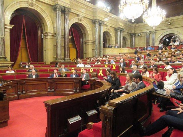 8M.- El Parlament dóna suport a la vaga, rebutja el bus d'HazteOír i demana una