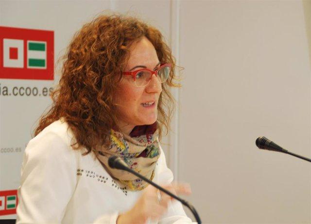 Nuria López en rueda de prensa