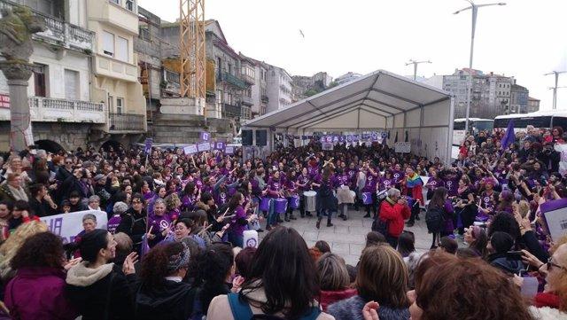 Manifestació feminista a Vigo