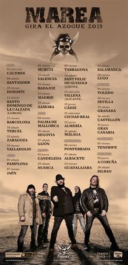 Marea anuncia las primeras 40 ciudades de su nueva gira para 2019