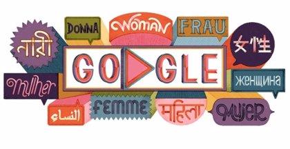 Google dedica su 'doodle' de hoy a las mujeres en varios idiomas
