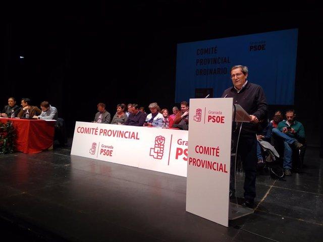 Pepe Entrena (PSOE) en el Comité Provincial del PSOE de Granada