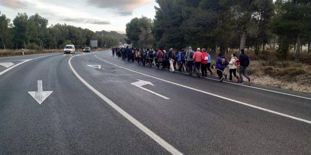 Más de 2.100 peregrinos de la Ribera comienzan su camino hacia Javier