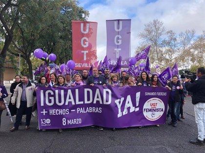 """CCOO y UGT piden empleo de """"calidad"""" para las mujeres y critican a quienes niegan la desigualdad"""