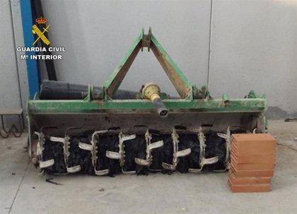 Guardia Civil detiene en Alhama a un agricultor por sustraer aperos de labranza