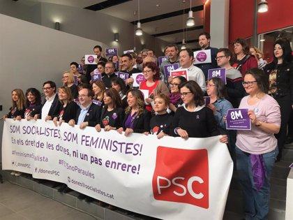 El PSC defiende el feminismo ante el machismo y quien lo matiza o usa en clave nacional