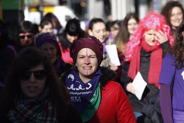 Concentracions  feministes als barris de Lavapiés i Atocha de Madrid amb mo