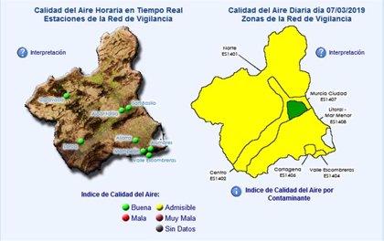 Desactivado el protocolo de actuación para episodios de contaminación atmosférica en La Aljorra y Valle de Escombreras