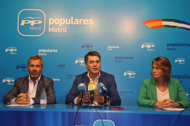 José García Fuentes, Carlos Rojas y Luisa García Chamorro