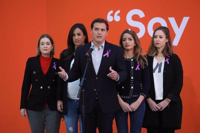 Declaración institucional de Ciudadanos con motivo del Día de la Mujer