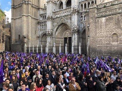 Miles de personas se concentran en C-LM en apoyo a la movilización y a la huelga feminista