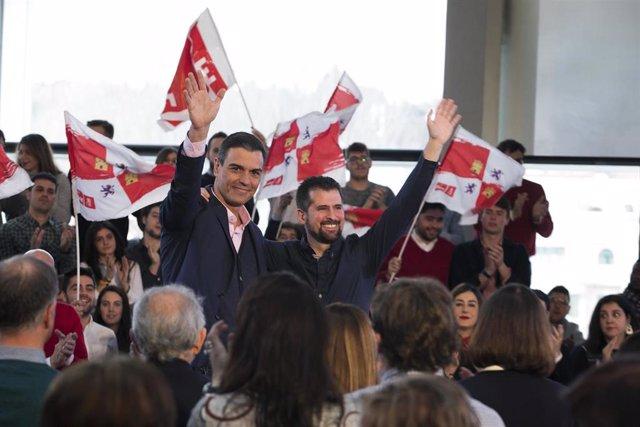 El presidente del Gobierno, Pedro Sánchez, interviene en el acto de presentación