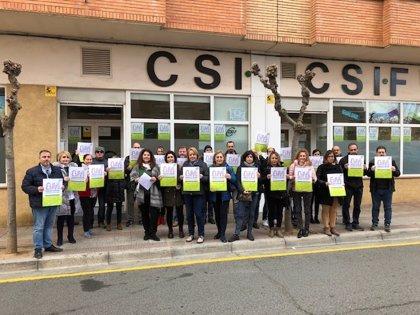 CSIF La Rioja realiza paros y concentraciones contra el abuso y discriminación a la mujer