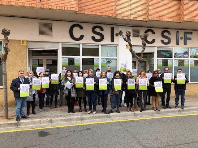 8M.- CSIF La Rioja Realiza Paros Y Concentraciones Contra El Abuso Y Discriminac
