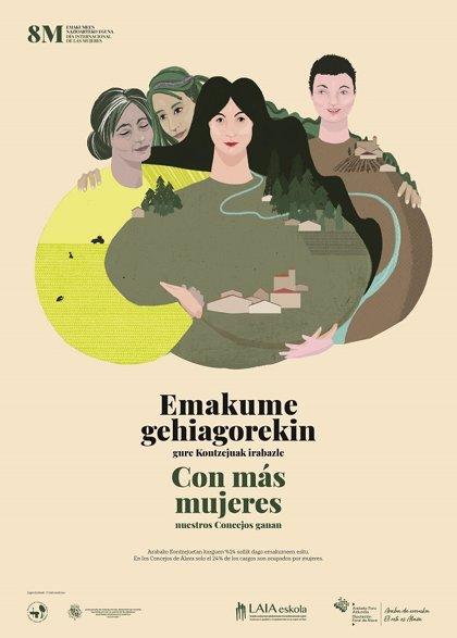 Diputación cierra este sábado los actos del 8M con una conferencia y mesa redonda con mujeres de concejos alaveses