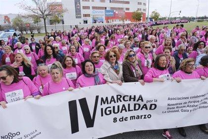 Unas 2.500 personas participan en las marchas del 8M de los distritos Este-Alcosa-Torreblanca y Sur de Sevilla