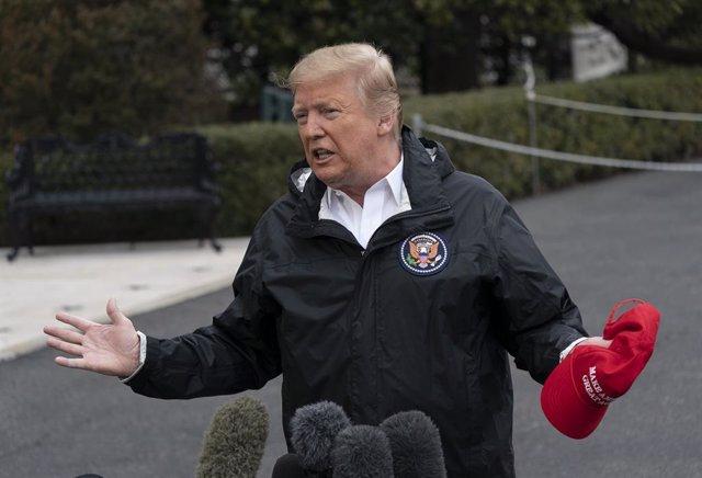 Trump, Melania and Barron depart White House