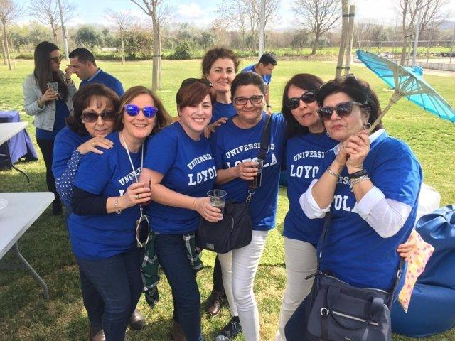 Loyola Andalucía celebra su 'Día Azul' de convivencia recordando a todas las muj