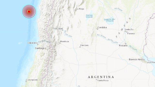 Un terremoto de 5,7 grados sacude el centro de Chile