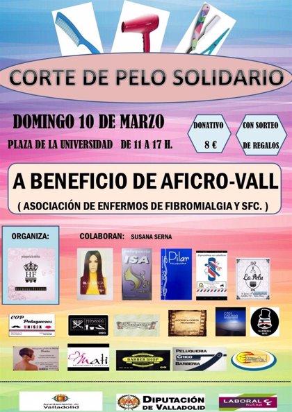 Corte de pelo solidario este domingo en Valladolid a favor de la Fibromialgia