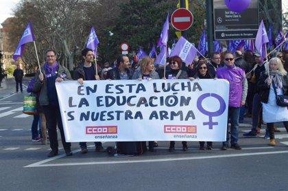 CCOO Aragón cifra en un 42% el seguimiento de la huelga en todas las etapas del sector de la enseñanza