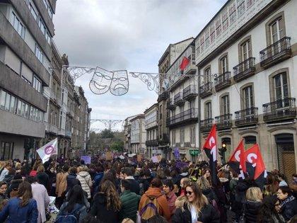La segunda huelga feminista vuelve a impactar en Galicia