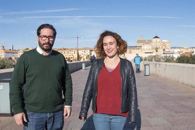 Moscoso y Naranjo en el Puente Romano