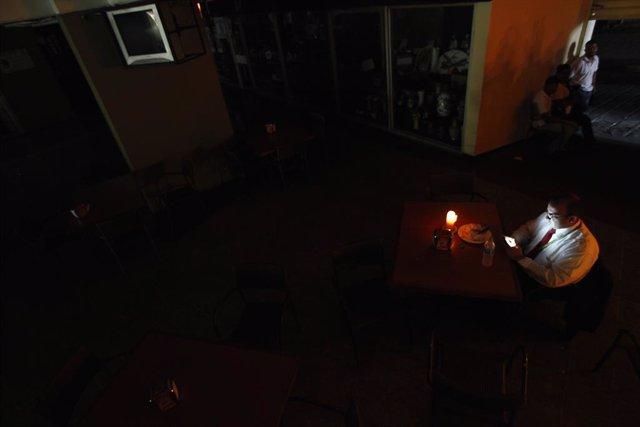 Imagen del apagón ocurrido el 3 de septiembre