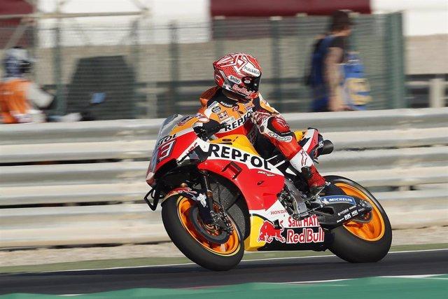 """Motociclismo/GP Catar.- Marc Márquez: """"Me he centrado en clasificarme directamen"""