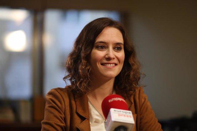 Entrevista de Europa Press a la candidata del PP a la Presidencia de la Comunida